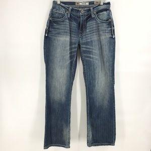 BKE derek distress relaxed fit jeans